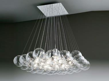 Lampada a sospensione a luce diretta alogena in cristallo SPHERE 37 | Lampada a sospensione