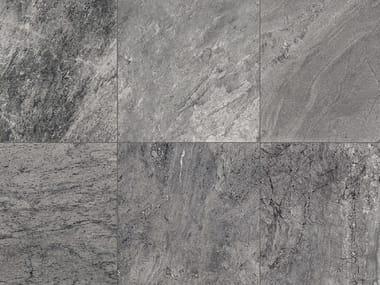 Full-body porcelain stoneware outdoor floor tiles with stone effect STONE MIX Quarzite Grey