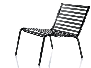 Powder coated steel garden armchair STRIPED | Easy chair