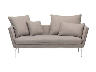 2 seater sofa with removable cover SUITA SOFA 2-SEATER WITH POINTED CUSHION