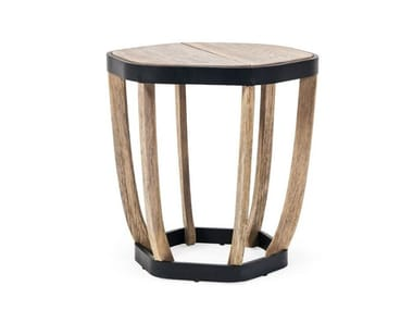 Round teak garden side table SWING | Round coffee table