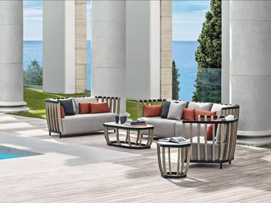 3 seater teak sofa SWING | 3 seater sofa