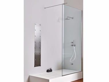 Chiusura doccia ad angolo in acciaio inox e vetro Chiusura Doccia ad angolo - Vetro fisso
