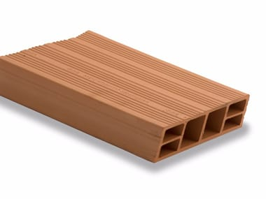 Rasilla y rasillón cerámicos Simple oblique cut clay plank 8 cm