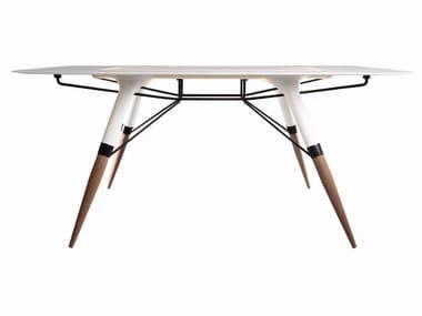 Tavolo rettangolare in Corian® T / LARGE
