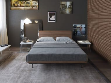 Multi-layer wood double bed TELEMARK | Multi-layer wood bed