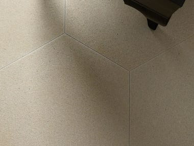 Indoor natural stone wall/floor tiles TERRA ESAGONO GREIGE