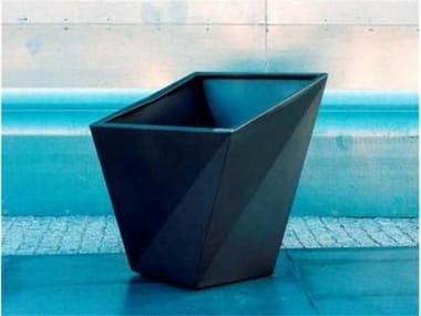 Custom galvanized plate planter TWISTER