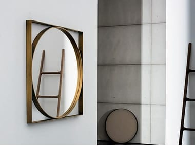 Square wall-mounted mirror VISUAL GEOMETRIC
