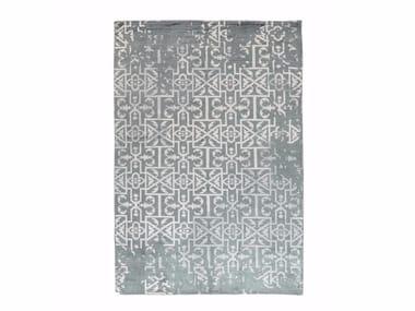 Patterned handmade viscose rug VIVID VOL. III