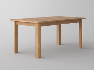 Extending rectangular solid wood table VIVUS