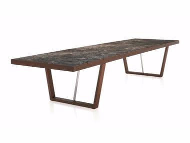 Tavolo allungabile rettangolare in legno WHERE | Tavolo rettangolare