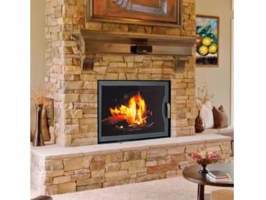 chimenea caldera de lea empotrada de pared wood