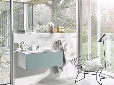 Mueble bajo lavabo simple suspendido de acero vitrificado WP.FOLIO3