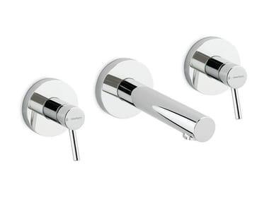 Miscelatore per lavabo a 3 fori a muro X-TREND   Rubinetto per lavabo a 3 fori