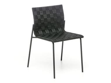 Stackable polypropylene chair ZEBRA | Garden chair