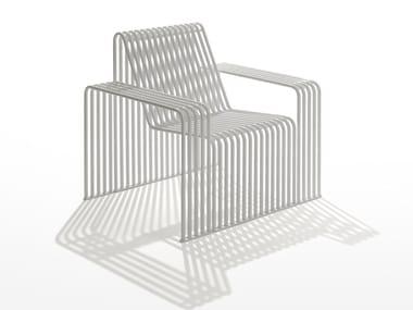 Galvanized steel garden armchair / outdoor chair ZEROQUINDICI.015 | Garden armchair