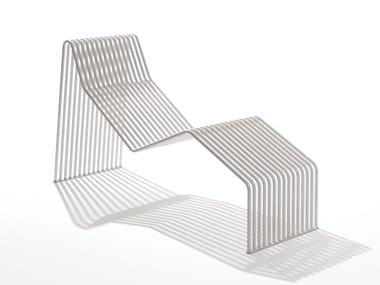 Chaise longue de acero galvanizado ZEROQUINDICI.015 | Chaise longue en acero
