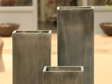 Zinc garden vase ZINC