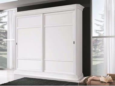 Armario de madera maciza con puertas correderas AMALFI | Armario lacado