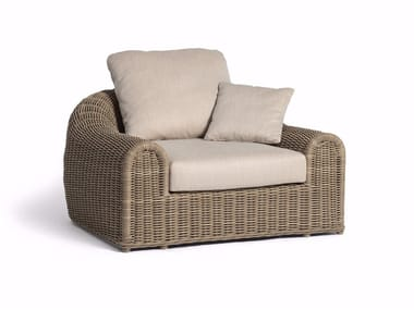 Rope garden armchair with armrests RIVER | Garden armchair