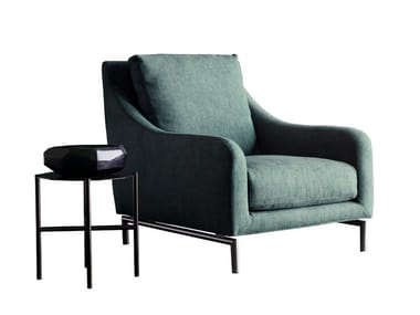 Bergere armchair with removable cover REVIVAL | Armchair