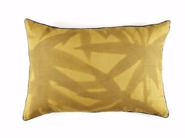 Rectangular linen cushion with floral pattern ARUBA