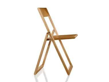 Sedia pieghevole in legno massello AVIVA | Sedia pieghevole