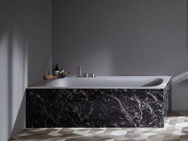 Rectangular Corian® bathtub R1 PANNELLABILE
