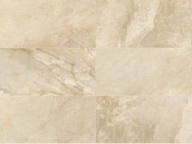 Indoor/outdoor porcelain stoneware wall/floor tiles with marble effect BEIGE EXPERIENCE Royal Beige