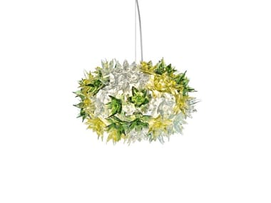 Indirect light technopolymer pendant lamp BLOOM | Technopolymer pendant lamp