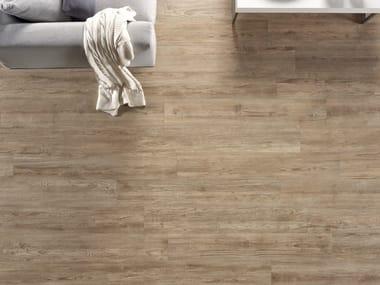 Pavimento/rivestimento in gres porcellanato a tutta massa effetto legno CÀ FOSCARI TABACCO