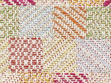 Jacquard upholstery fabric with graphic pattern CABO POLONIO