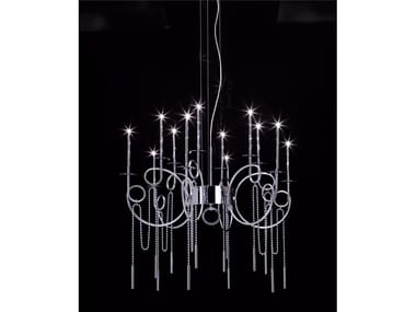 Lampada a sospensione a LED in acciaio CALLIGRAFICO NITY 12C | Lampada a sospensione a LED