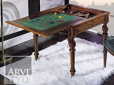 Square solid wood backgammon table CANALETTO | Backgammon table