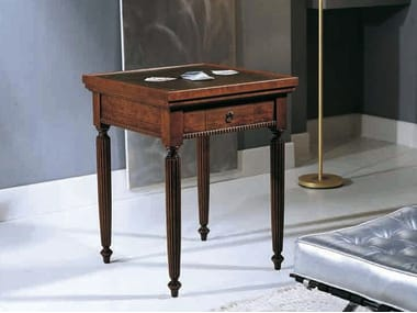 Square solid wood poker table CANALETTO | Poker table