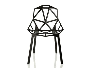 Sedia impilabile in alluminio CHAIR_ONE | Sedia impilabile