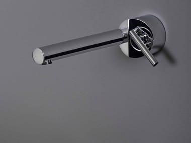 Miscelatore per lavabo a muro monoforo in ottone cromato CLOSER | Miscelatore per lavabo a muro