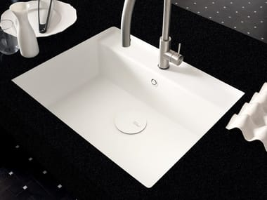 Lavello a una vasca filo top in Corian® Corian® TASTY