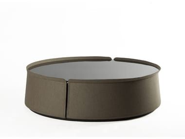 Round glass coffee table for living room CORUM | Coffee table for living room