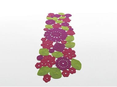 Alfombra de flores hecha a mano rectangular CROCHET | Alfombra rectangular