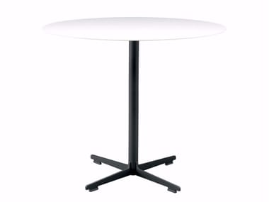 Round table with 4-star base CROSS TABLE - 573 | Table