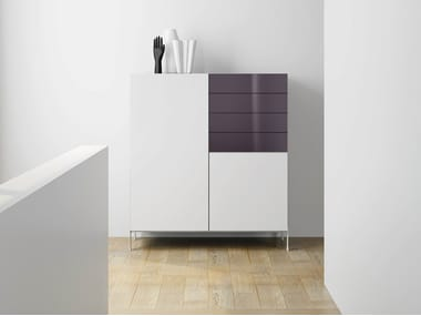 Laminate Highboard With Drawers DRu2022ØNE | Highboard With Drawers. De Rosso