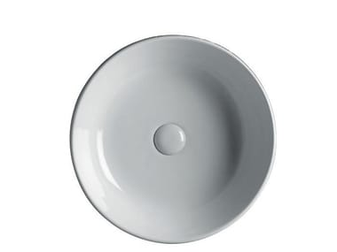 Countertop round ceramic washbasin EASY 45 | Round washbasin
