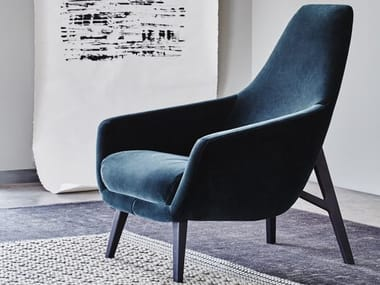 Fabric armchair with armrests ENZO | Fabric armchair