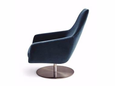 Swivel fabric armchair with armrests ENZO   Swivel armchair