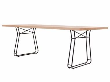 Rechteckiger Tisch aus Holz FIGURA