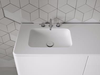 Lavabo rectangular con encimera FLUENT | Lavabo rectangular