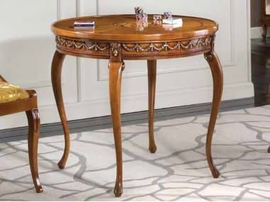 Round solid wood poker table HENRY | Game table