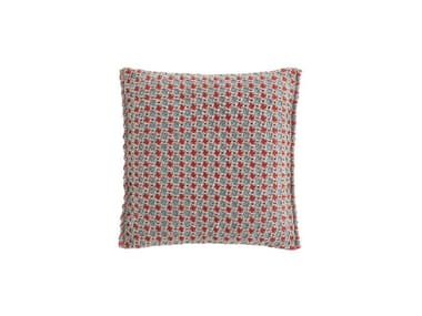 Motif square outdoor polypropylene cushion GARDEN LAYERS BLUE | Square cushion